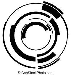 Abstract hi-tech segmented geometric circle shape isolated...