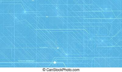 Abstract Hi-Tech Technology Pattern.