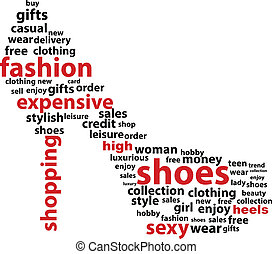 High Heels - Abstract High Heels Word Cloud