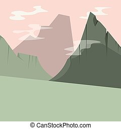 abstract high mountains natural landscape