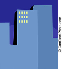 Abstract High-Rise Buildings