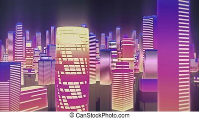 Abstract high speed traveling in city background for use in ...