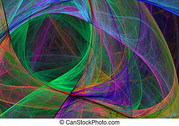 Abstract High Tech Glowing Background - Abstract High Tech...