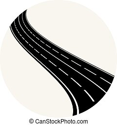 Abstract highway element in circle logo