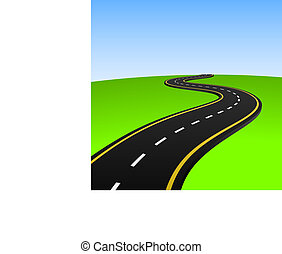 Abstract highway - Vector illustration of abstract highway ...