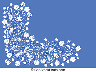 abstract, hoek floral