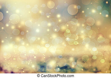Abstract holiday background, beautiful shiny Christmas lights, glowing magic bokeh. Please check portfolio for other similar images.