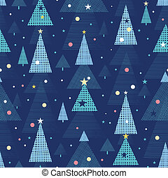 Abstract holiday Christmas trees seamless pattern background