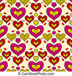 Abstract holiday seamless pattern with hearts 3