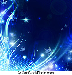 Abstract Holiday snowflakes and stars Background