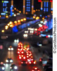abstract holiday street illuminations, power details