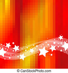 Abstract holidays background with waves & stars