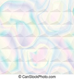 Abstract Holographic Geometric Seamless Pattern
