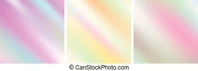 Abstract holographic soft gradient stripes backgrounds....
