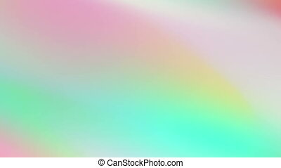Abstract holographic soft gradient stripes video animation
