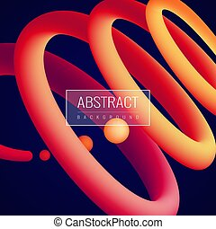 abstract, holographic, vloeistof, achtergrond