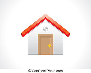 abstract home icon vector illustation