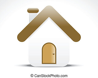 abstract home icon vector