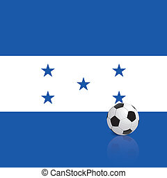 Honduras - Abstract Honduras flag with a soccer ball
