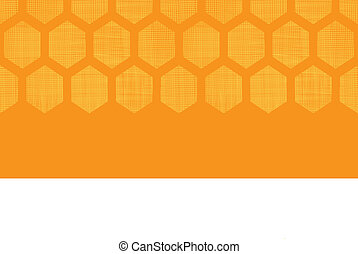 Abstract honey yellow honeycomb fabric textured horizontal seamless pattern background