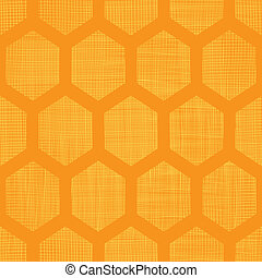 Abstract honey yellow honeycomb fabric textured seamless pattern background