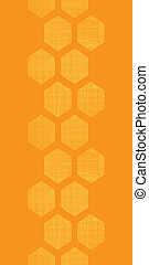 Abstract honey yellow honeycomb fabric textured vertical seamless pattern background