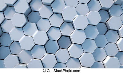 Abstract honeycomb background - Abstract tech honeycomb...