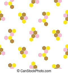 Abstract honeycomb hexagon vector background with blank space. Seamless print pattern.