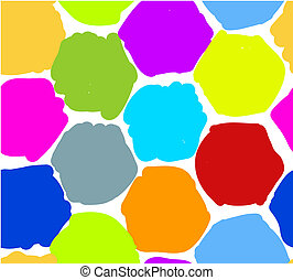 Abstract honeycomb pattern for your design