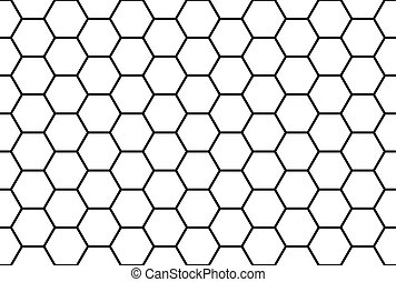 Abstract black and white honeycomb seamless pattern.