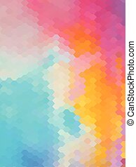 Abstract honeycomb vintage color background