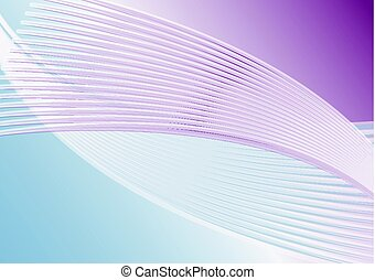 Abstract horizontal background in soft purple and blue, diagonal wavy line shapes