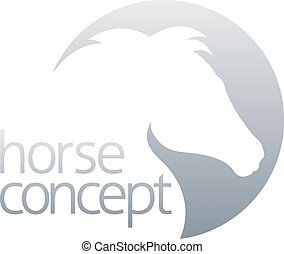 Abstract horse circle design