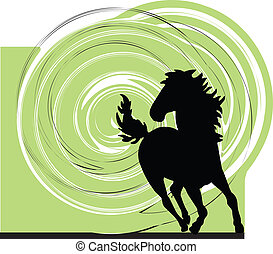 abstract horse illustration