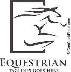 abstract Horse racing logo template