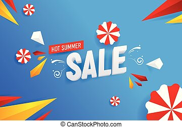 Abstract Hot Summer Sale Vector Background Illustration