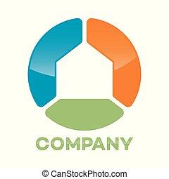 Abstract house circle logo