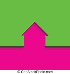 Abstract house icon, vector illustration