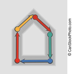 Abstract house icon