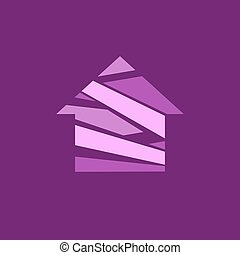 Abstract house logo.