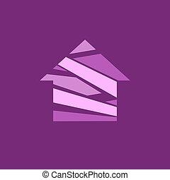 Abstract house logo.