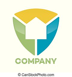 Abstract house shield logo