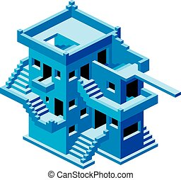 Abstract House Vector - Abstract Confusive House. House...