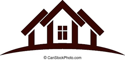 Abstract houses with horizon line. Can be used in ...