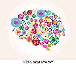 Abstract human brain, creative, vecto