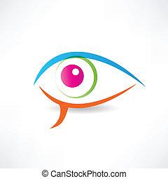 abstract human eye icon