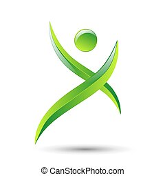 Abstract human figures Vector logo template