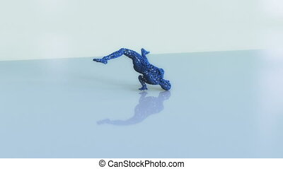 Abstract Human Form - Abstract human form made of cube...