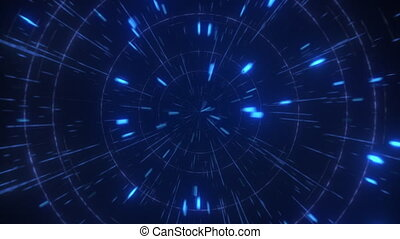 Abstract hyperspace high speed flight, seamless loop -...