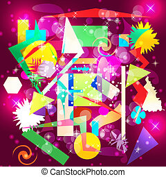 Abstract hypnotic background. Vector illustration.